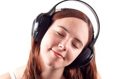 Girl Enjoying Her Music Royalty Free Stock Photos