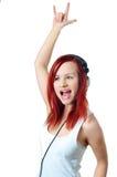 Girl enjoying music Royalty Free Stock Images