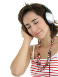 Girl Enjoying Music Royalty Free Stock Photos