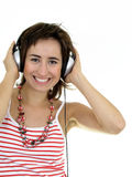Girl Enjoying Music Stock Photography