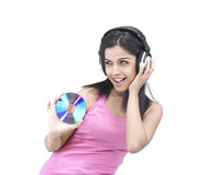 Girl enjoying music Royalty Free Stock Photography
