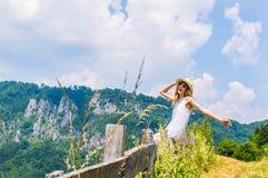 Girl enjoying nature Royalty Free Stock Photography