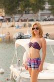 Girl Enjoying Sea and Summer Royalty Free Stock Image