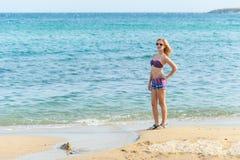Girl Enjoying the Sea Royalty Free Stock Photos