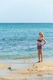 Girl Enjoying the Sea Stock Image