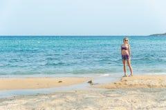 Girl Enjoying the Sea Stock Photos