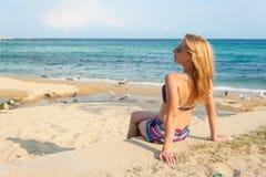 Girl Enjoying the Sea Royalty Free Stock Photography