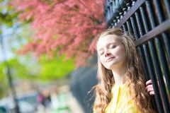 Girl enjoying spring day Royalty Free Stock Images