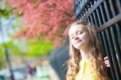 Girl enjoying spring day Royalty Free Stock Images