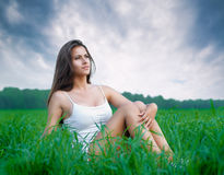Girl enjoying summer Royalty Free Stock Photos