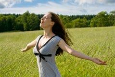 Girl enjoying summer Stock Images