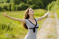 Girl enjoying summer Stock Photos