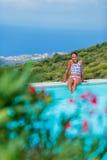Girl enjoying summer holidays Stock Photography