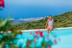 Girl enjoying summer holidays Stock Image