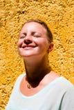 Girl Enjoying the Sun Stock Photography