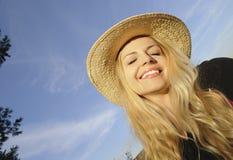 Girl enjoying sunshine Stock Photography
