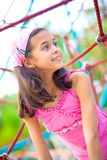 Girl enjoying time outdoor on playground Royalty Free Stock Images
