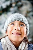 Girl enjoying the winter Royalty Free Stock Images