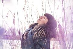Girl enjoying the winter Stock Photography