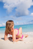 Girl Enjoys On The Beach Royalty Free Stock Image