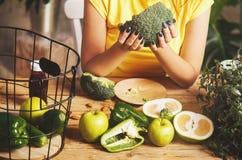 Girl Enjoys Healthy Food Stock Photos