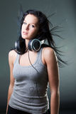 Girl enjoys music Royalty Free Stock Photo