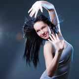 Girl enjoys music Royalty Free Stock Image
