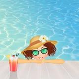 Girl enjoys the summer holidays Stock Photography
