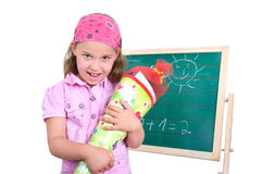 Girl in enrollment Stock Images