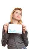 Girl with envelope Royalty Free Stock Photos