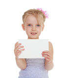 Girl with an envelope Stock Images