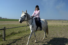 THE GIRL THE EQUESTRIAN SKIPS Royalty Free Stock Images