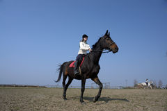 THE GIRL THE EQUESTRIAN SKIPS Stock Photos
