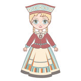 The girl in Estonian dress. Royalty Free Stock Image