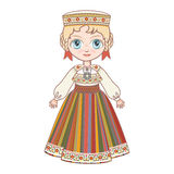 The girl in Estonian dress. Royalty Free Stock Photos