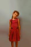 Girl European appearance decade sadness grief Stock Photos