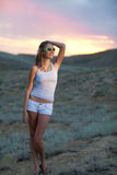 Girl in the evening Royalty Free Stock Image