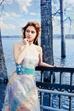 Girl in evening dress Royalty Free Stock Photo
