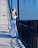 Girl in evening dress Royalty Free Stock Images