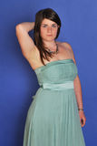 Girl in evening gown stock images