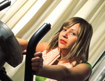 Girl excercising Stock Photography