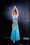 Girl executes east dance Royalty Free Stock Photos