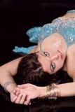 Girl executes east dance Stock Photos