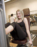 Girl exercing her legs Stock Photo