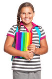 Girl with exercise books Stock Photography