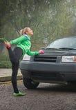 Girl exercise Royalty Free Stock Image