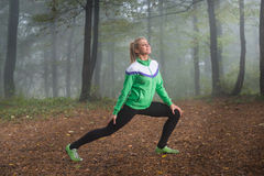 Girl exercise Stock Photography