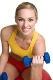 Girl Exercising. Beautiful healthy fitness girl exercising Stock Photo