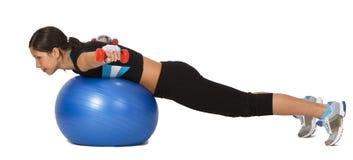 Girl exercising Stock Image
