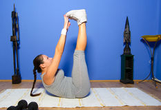 Girl exercising at home Royalty Free Stock Photography